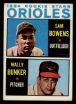 1964 Topps #201  Orioles Rookies  -  Wally Bunker / Sam Bowens Front Thumbnail