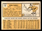 1963 Topps #105 COR  Ron Fairly Back Thumbnail