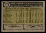 1961 Topps #113   Mike Fornieles Back Thumbnail