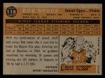 1960 Topps #118   -  Bob Bruce Rookies Back Thumbnail