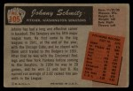 1955 Bowman #105   Johnny Schmitz Back Thumbnail
