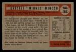 1954 Bowman #38 ALL Minnie Minoso  Back Thumbnail