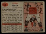 1957 Topps #19  Perry Jeter  Back Thumbnail