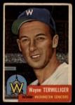 1953 Topps #159  Wayne Terwilliger  Front Thumbnail
