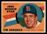 1960 Topps #124  Rookie Stars  -  Jim Donohue Front Thumbnail