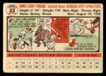 1956 Topps #22   Jim Finigan Back Thumbnail