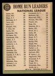 1967 Topps #244  1966 NL Home Run Leaders  -  Hank Aaron / Dick Allen / Willie Mays Back Thumbnail