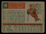 1959 Topps #198   Jim Davenport Back Thumbnail