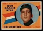 1960 Topps #145  Rookies  -  Jim Umbricht Front Thumbnail