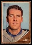 1962 Topps #304  Dick Farrell  Front Thumbnail