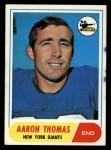 1968 Topps #109   Aaron Thomas Front Thumbnail