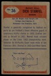 1955 Bowman #36  Dick Stanfel  Back Thumbnail