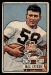 1951 Bowman #3   Mac Speedie Front Thumbnail