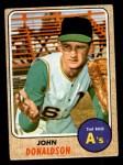 1968 Topps #244  John Donaldson  Front Thumbnail
