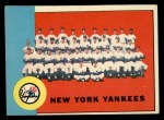 1963 Topps #247   Yankees Team Front Thumbnail