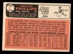 1966 Topps #32   Adolfo Phillips Back Thumbnail