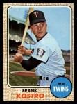 1968 Topps #44  Frank Kostro  Front Thumbnail