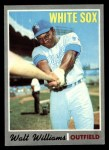 1970 Topps #395   Walt Williams Front Thumbnail