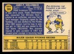 1970 Topps #389 ERR Jim Shellenback  Back Thumbnail