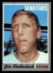 1970 Topps #389 ERR  Jim Shellenback Front Thumbnail