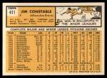 1963 Topps #411  Jim Constable  Back Thumbnail