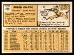 1963 Topps #455  Ruben Amaro  Back Thumbnail
