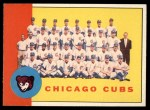 1963 Topps #222  Cubs Team  -    Front Thumbnail