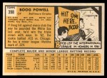 1963 Topps #398  Boog Powell  Back Thumbnail