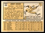 1963 Topps #488   Jerry Adair Back Thumbnail