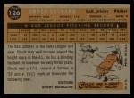 1960 Topps #126   -  Chuck Estrada Rookies Back Thumbnail