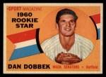 1960 Topps #123  Rookies  -  Dan Dobbek Front Thumbnail