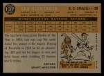 1960 Topps #137  Rookie Stars  -  Lou Klimchock Back Thumbnail