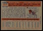 1957 Topps #354   Rip Coleman Back Thumbnail
