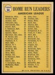 1970 Topps #66  1969 AL Home Run Leaders  -  Frank Howard / Reggie Jackson / Harmon Killebrew Back Thumbnail