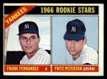 1966 Topps #584  Yankees Rookies  -  Fritz Peterson / Frank Fernandez Front Thumbnail