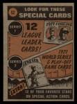 1972 Topps #52  In Action  -  Harmon Killebrew Back Thumbnail