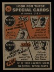 1972 Topps #54  In Action  -  Bud Harrelson Back Thumbnail