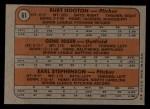 1972 Topps #61  Cubs Rookies    -  Gene Hiser / Burt Hooton / Earl Stephenson Back Thumbnail