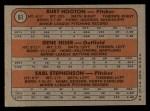 1972 Topps #61   Cubs Rookie Stars    -  Gene Hiser / Burt Hooton / Earl Stephenson Back Thumbnail