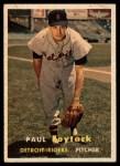 1957 Topps #77   Paul Foytack Front Thumbnail