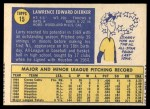 1970 Topps #15  Larry Dierker  Back Thumbnail