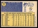 1970 Topps #35   Joel Horlen Back Thumbnail