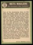 1967 Topps #186  Mets Maulers  -  Ed Kranepool / Ron Swoboda Back Thumbnail