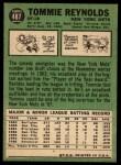 1967 Topps #487 COR  Tommie 'Tom' Reynolds Back Thumbnail