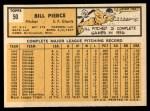 1963 Topps #50   Bill Pierce Back Thumbnail
