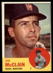 1963 Topps #311   Joe McClain Front Thumbnail