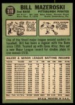 1967 Topps #510  Bill Mazeroski  Back Thumbnail