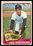 1965 Topps #245   Joe Pepitone Front Thumbnail