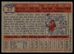 1957 Topps #47   Don Blasingame Back Thumbnail