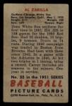 1951 Bowman #35  Al Zarilla  Back Thumbnail